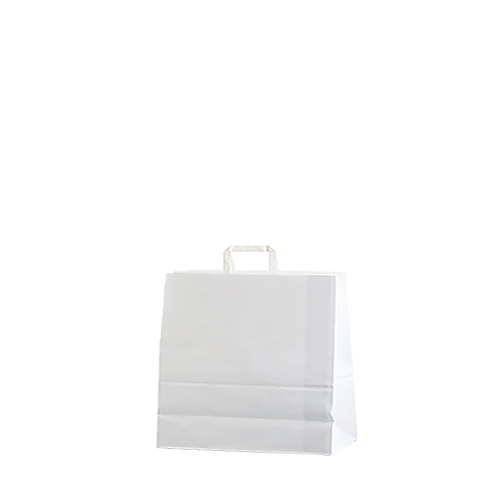 Bolsa papel asa plana 22