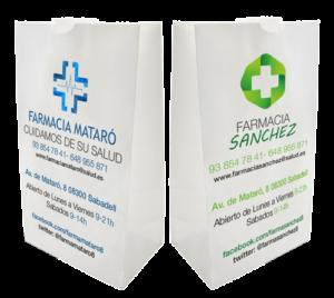 Bolsas papel celulosa para farmacias